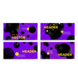 abstract violet banners geometric shapes vector image vector image