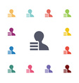 application flat icons set vector image vector image