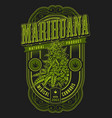 banner for legalize marijuana vector image