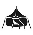 big camp tent icon simple style vector image vector image
