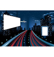 Billboards in Night City2 vector image vector image