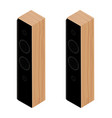black acoustic speakers loudspeakers isolated on vector image vector image