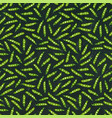 black board seamless endless pattern of green vector image