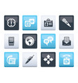 business office and internet icons vector image