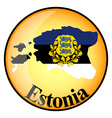 button Estonia vector image