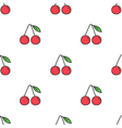 Colorful cartoon doodle cherry seamless pattern vector image vector image