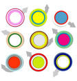 colorful paper labels with arrows vector image