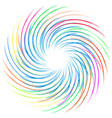 Colourful swirl vector image