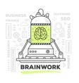 creative professional mechanism of brainw vector image vector image