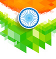 creative wave indian flag vector image