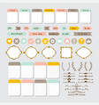 design elements for website template for vector image