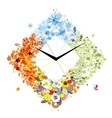 Design of clock Four seasons concept vector image vector image