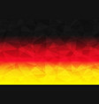 germany flag polygonal vector image