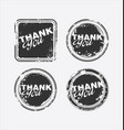 grunge rubber stamp with the text thank you 3 vector image