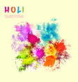 indian festival holi celebration card with vector image vector image