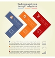 Infographics with paper arrows vector image vector image