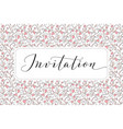 invitation card with hand written custom vector image vector image