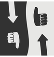 like hand symbol vector image vector image