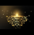 luxury gold happy diwali indian lights festival vector image vector image
