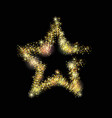 luxury gold star with light dots vector image