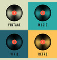 old music vinyl record set in retro colors album vector image vector image