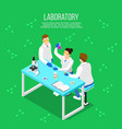 pharmaceutical laboratory isometric composition vector image