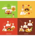 Pizza Order and Making Icon vector image vector image