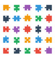 puzzle piece icons all possible shapes jigsaw vector image vector image