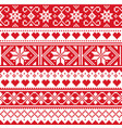scottish fair isle style traditional knit pattern vector image vector image