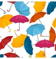 seamless pattern with colored umbrellas vector image vector image