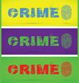 set of crime finger prints vector image