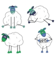 Set of funny sheep vector image vector image