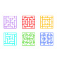 set of square chinese window frame art vector image