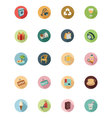 Shopping Flat Colored Icons 4 vector image vector image