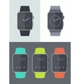 Smart watch icons isolated Trendy flat vector image vector image