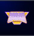 sport emblem typography super team hero logotype vector image