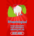 stomatological concept banner comics isometric vector image