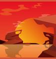 sunset landscape design vector image