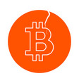 symbol of digital crypto currency bitcoin round vector image vector image