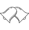 twins bell icon twins bell icon doddle hand drawn vector image