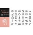 vaccine and laboratory icons modern line design vector image