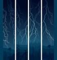 vertical banner lightning at night vector image