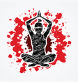woman practicing yoga yoga action vector image vector image