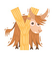 yak and letter y on a vector image vector image