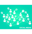 Social media background vector image