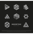 3d Isometric Logo Set vector image vector image
