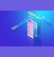 3d isometric mobile app ui ux design creating vector image