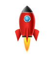3d rocket space ship launch background realistic vector image vector image