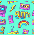 90s seamless pattern vector image vector image