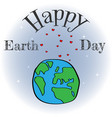 a happy earth day banner for vector image vector image